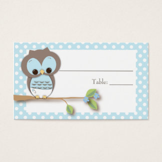 Owl Baby Placecard | Blue Business Card