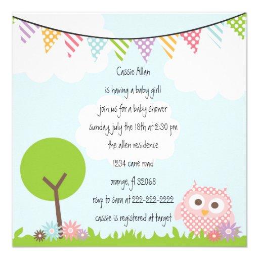 owl baby shower invitation zazzle