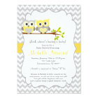 Owl Baby Shower Invitation