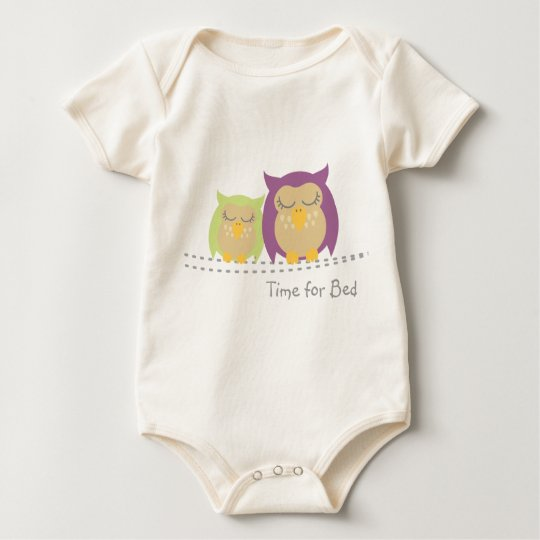 Owl Baby, Time for Bed Baby Bodysuit