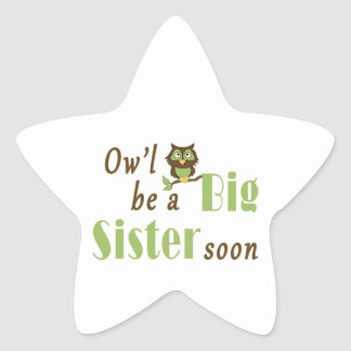 Ow'l Be A Big Sister Soon Stickers