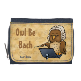 Owl Be Bach Personalized Funny Cartoon Wallet