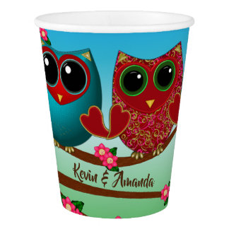 Owl be loving you-Paper Cups