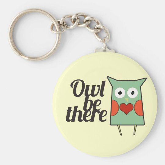 Owl be Ther Basic Round Button Key Ring