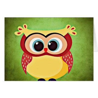 """""""owl"""" """"big eyed"""" """"blue eyed owl"""" """"yellow owl"""" """"cut greeting card"""