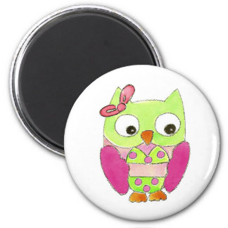 Owl Bikini 6 Cm Round Magnet