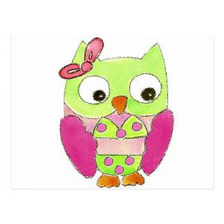 Owl Bikini Postcard