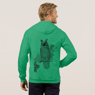 Owl Bird Animal Tree Green Destiny Destiny's Hoodie