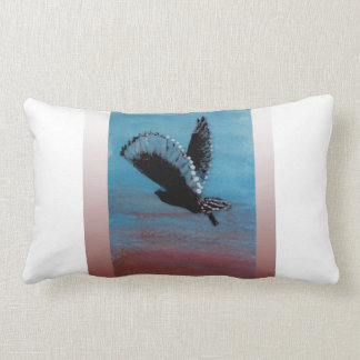 Owl Bird at Sunrise Art Lumbar Cushion