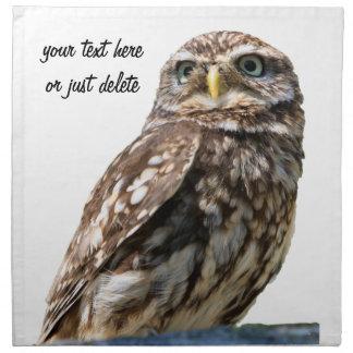 Owl bird beautiful photo custom table napkin