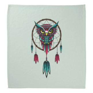 Owl Bird Dreamcatcher Art Bandana