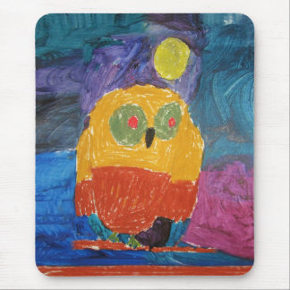 Owl Bird kid s art Mousepads