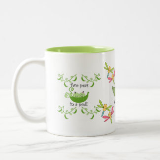 Owl Bird Peas Pod Cute Dragonflies Fall Peace Love Mug