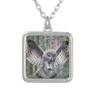 Owl Birds Feathers Party Shower Teacher Class Art Custom Necklace