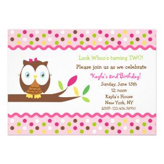 Owl Birthday Party Baby Shower Invitations