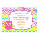 Owl Birthday Party Invitations