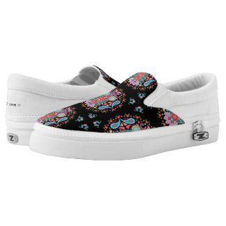 Owl Blooms with Love ~ Slip On Sneakers