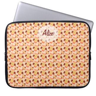 Owl blossom laptop sleeve