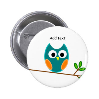 Owl: Blue and Gold Owl Template Pins