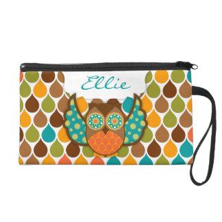 Owl Boheme Custom Wristlet