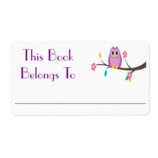 Owl Book Sticker