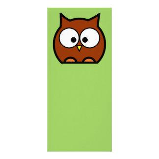 Owl Bookmark Customized Rack Card