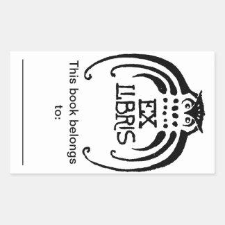 Owl Bookplate Sticker