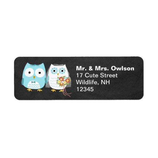 Owl Bride and Groom Wedding Couple