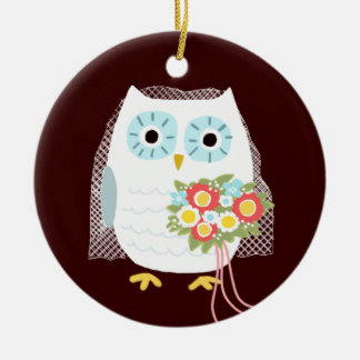 Owl Bride - Fun Wedding Gift Christmas Ornament