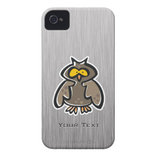 Owl; Brushed metal-look Case-Mate iPhone 4 Cases
