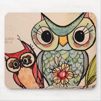 Owl Buddies Mouse Mat