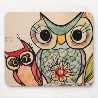 Owl Buddies Mouse Pad