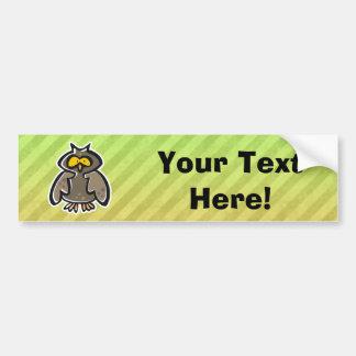 Owl Bumper Sticker