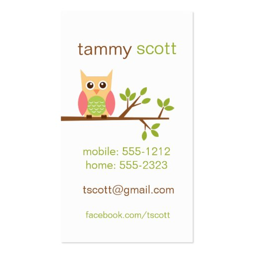 Owl business card  (#BUS002)