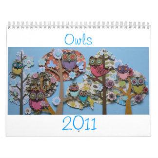 owl calender 2011 calendar