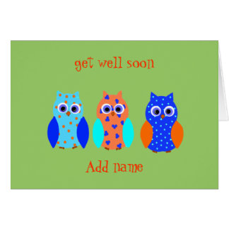Owl Cards cute and customizable