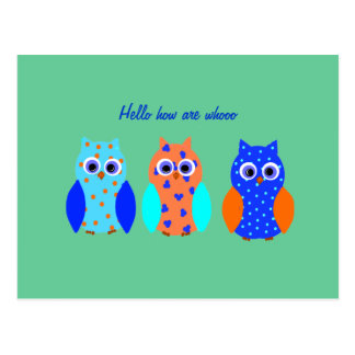Owl Cards cute and customizable Postcards