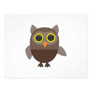 Owl cartoon flyers