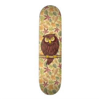 Owl Cartoon Custom Skate Board