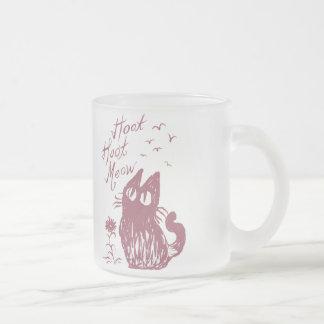 Owl Cat Purplish red Mugs