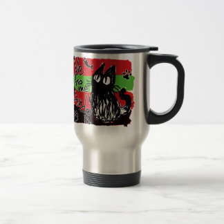 Owl cat *Red and Green Coffee Mugs