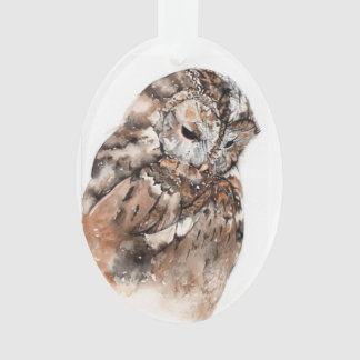 Owl ceramic decoration