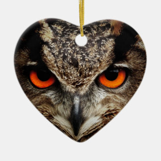 Owl Ceramic Heart Decoration