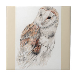 Owl ceramic tile