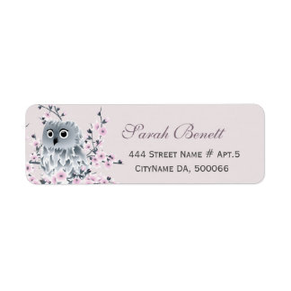 Owl Cherry Blossoms Baby Shower
