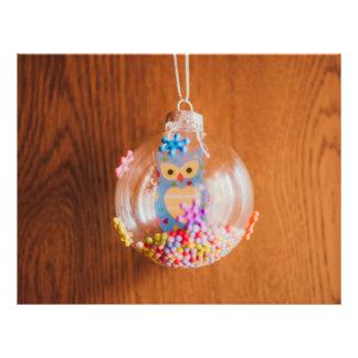 Owl Christmas bauble 21.5 Cm X 28 Cm Flyer