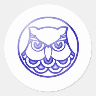 owl classic round sticker