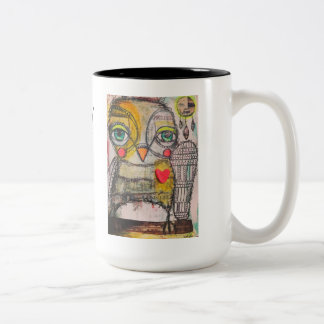 Owl Coffee Mug!  Be Wise and Follow your Dreams Two-Tone Coffee Mug