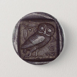 Owl Coin 6 Cm Round Badge