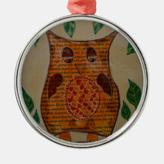 Owl Collage Christmas Ornament